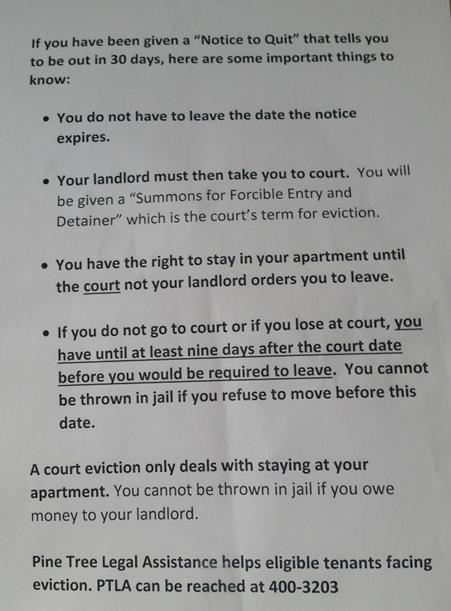 How to get evicted when you're not being evicted  – Regan A